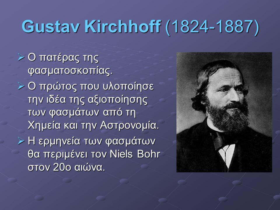 Gustav Kirchhoff (1824-1887) Ο πατέρας της φασματοσκοπίας.