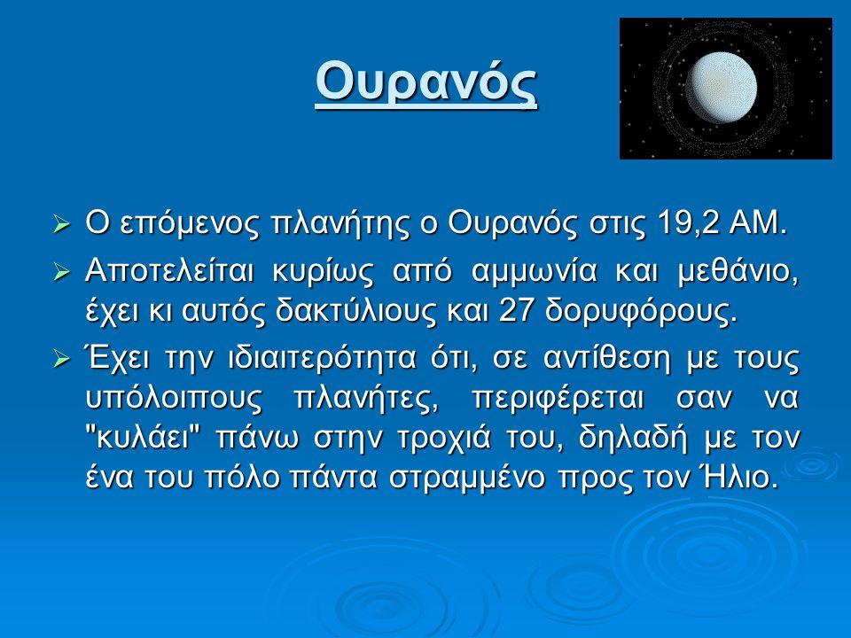 Ουρανός Ο επόμενος πλανήτης ο Ουρανός στις 19,2 ΑΜ.
