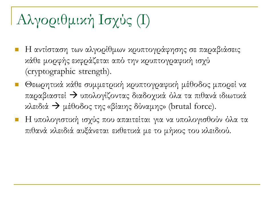 Αλγοριθμική Ισχύς (Ι)