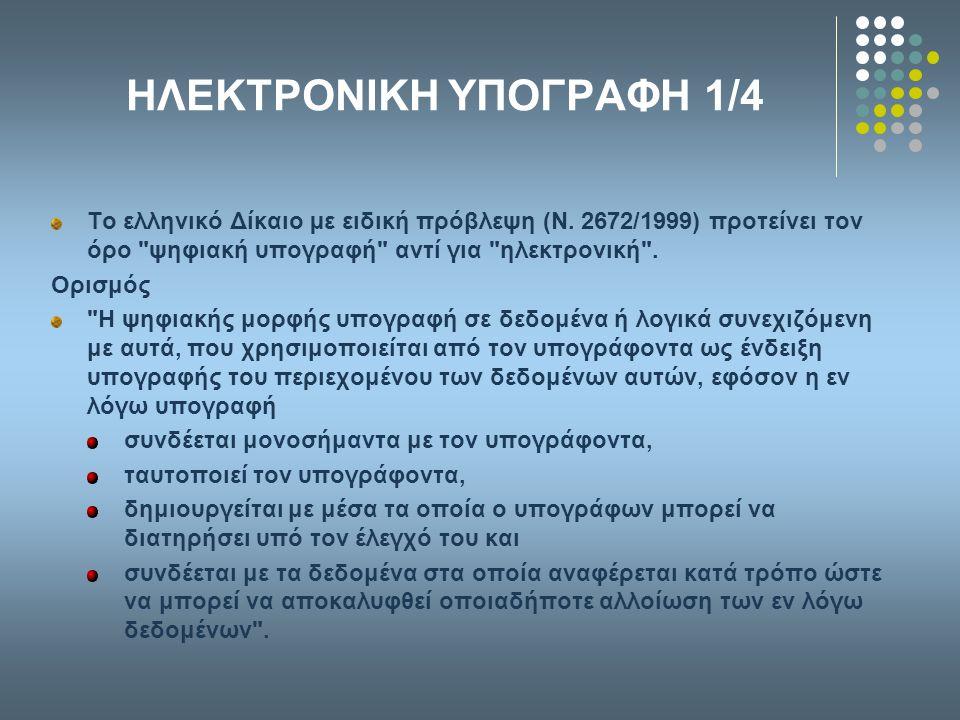 ΗΛΕΚΤΡΟΝΙΚΗ ΥΠΟΓΡΑΦΗ 1/4