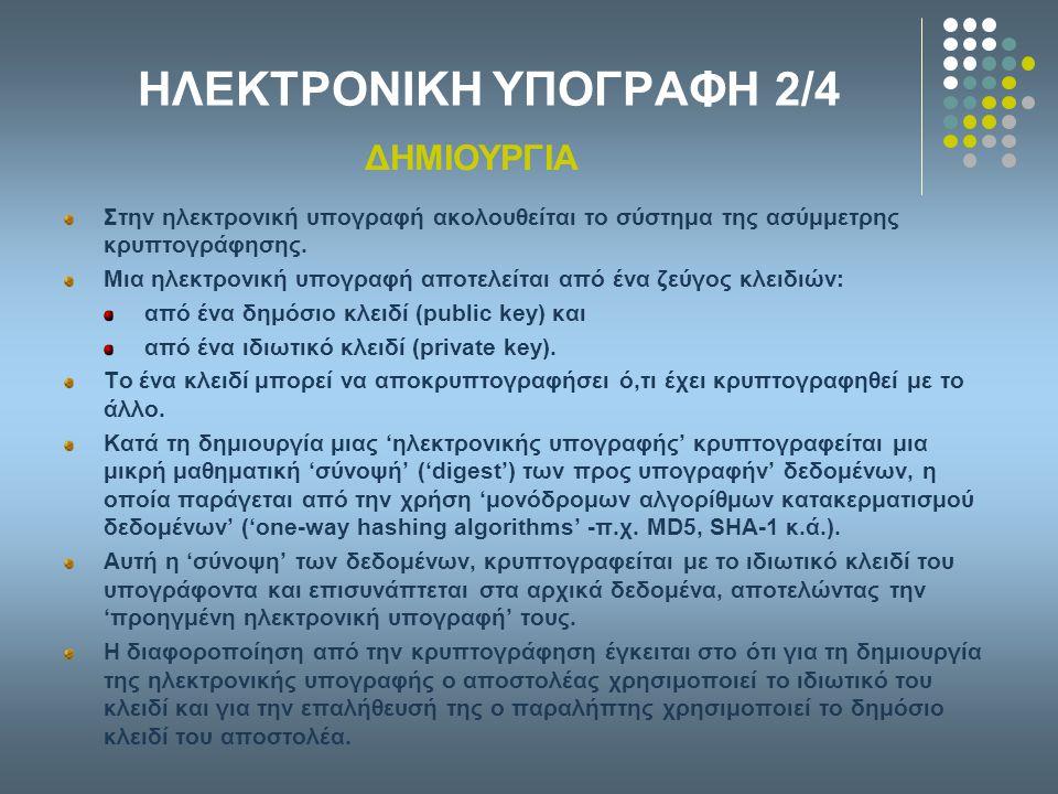 ΗΛΕΚΤΡΟΝΙΚΗ ΥΠΟΓΡΑΦΗ 2/4