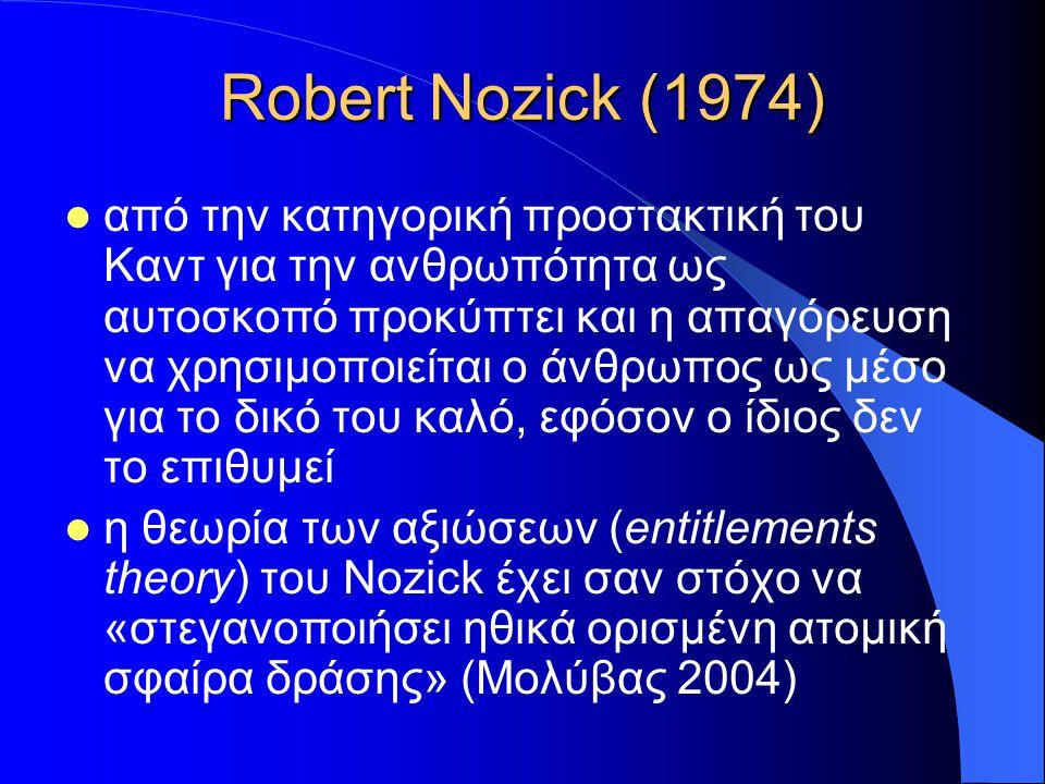 Robert Nozick (1974)