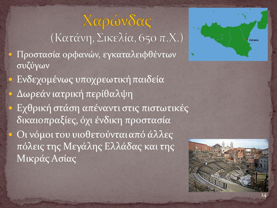 Χαρώνδας (Κατάνη, Σικελία, 650 π.Χ.)