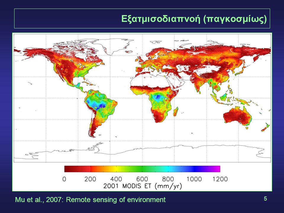 Εξατμισοδιαπνοή (παγκοσμίως)