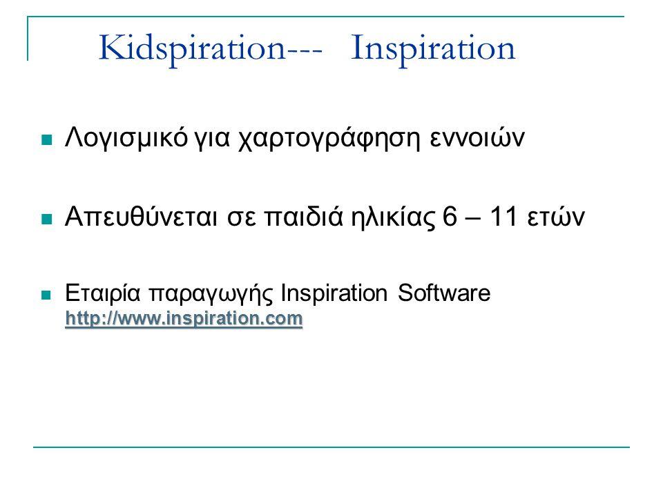 Κidspiration--- Inspiration