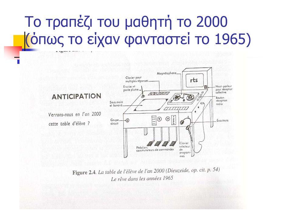 Το τραπέζι του μαθητή το 2000 (όπως το είχαν φανταστεί το 1965)