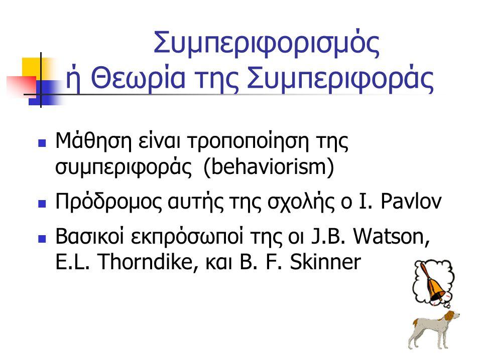 Συμπεριφορισμός ή Θεωρία της Συμπεριφοράς