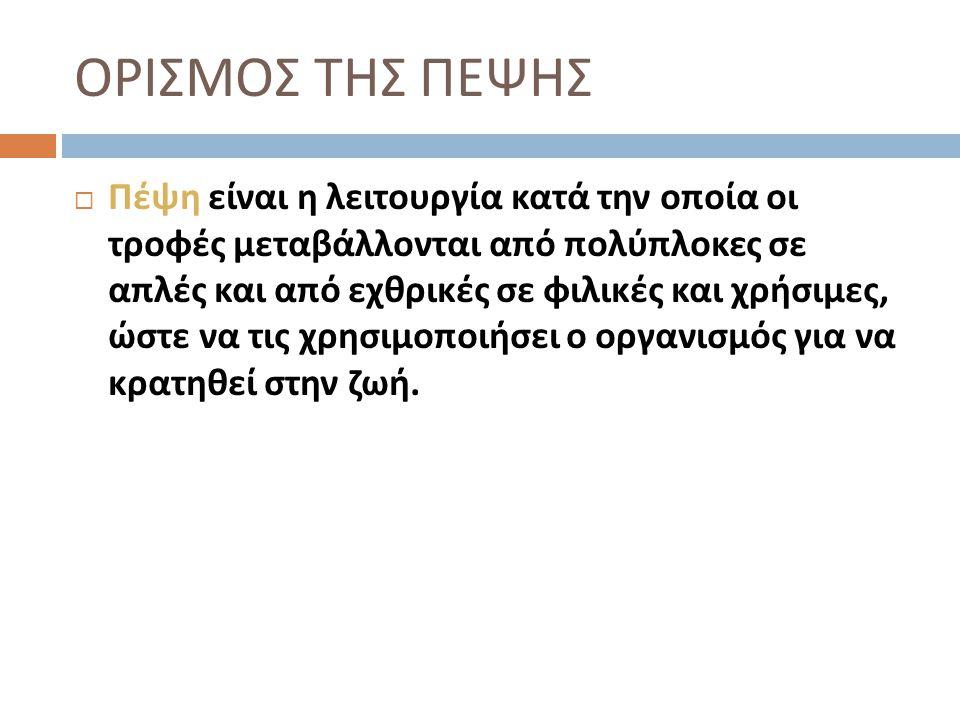 ΟΡΙΣΜΟΣ ΤΗΣ ΠΕΨΗΣ
