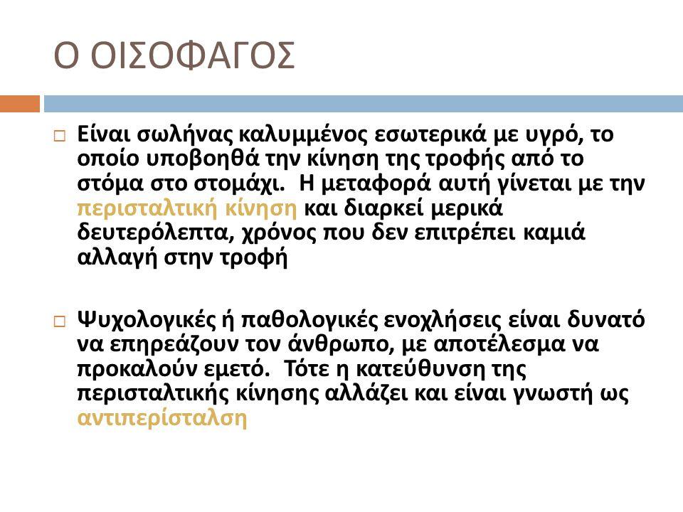 Ο ΟΙΣΟΦΑΓΟΣ