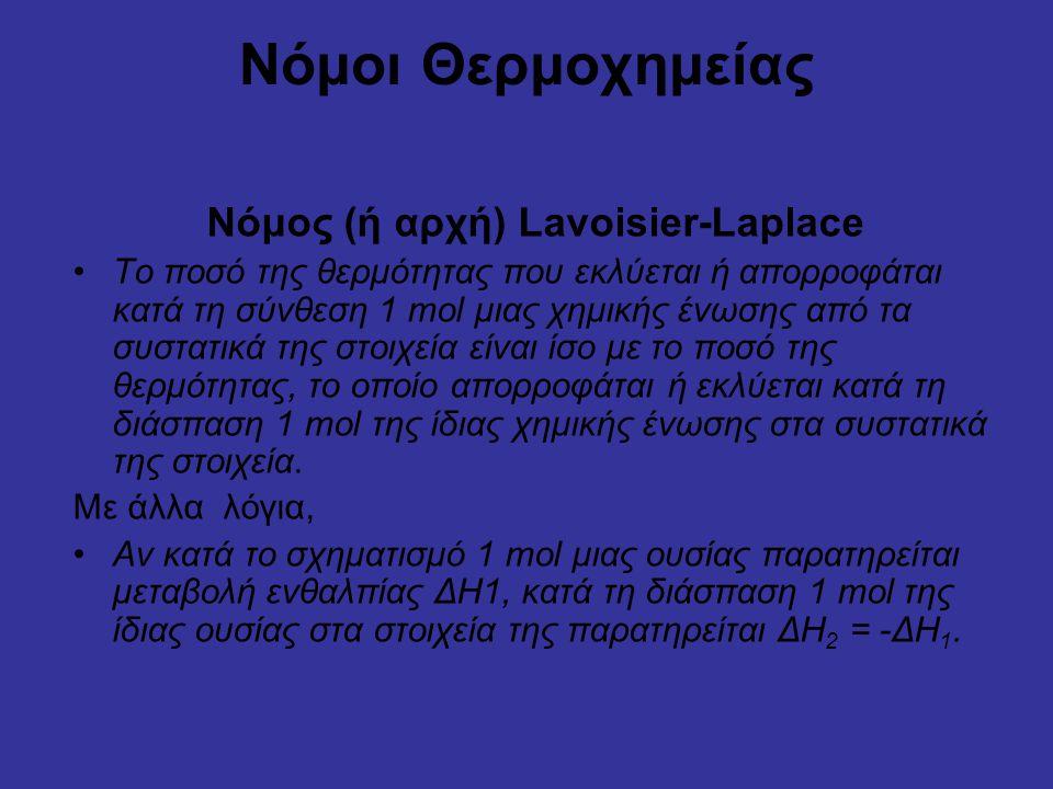 Νόμος (ή αρχή) Lavoisier-Laplace