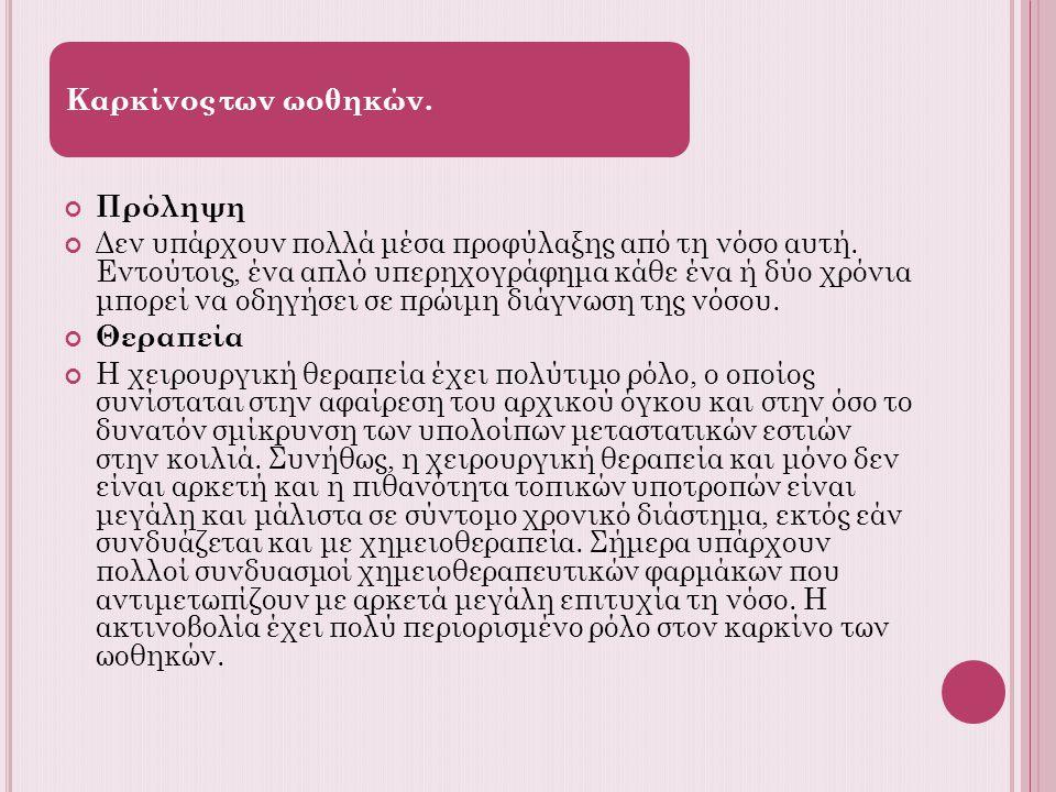 Καρκίνος των ωοθηκών. Πρόληψη.