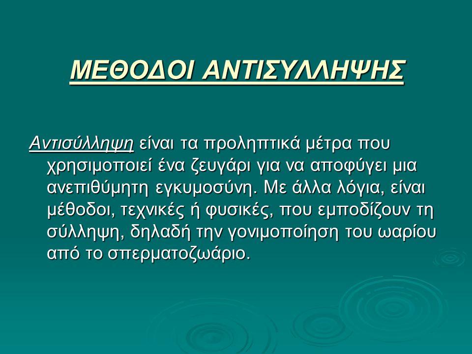 ΜΕΘΟΔΟΙ ΑΝΤΙΣΥΛΛΗΨΗΣ