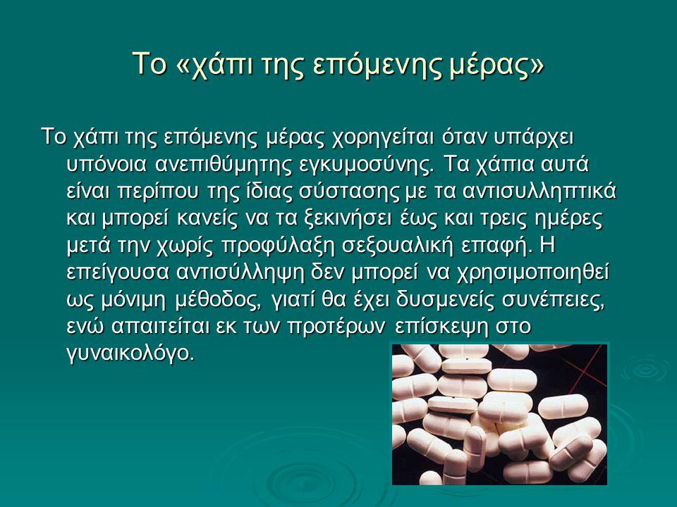 Το «χάπι της επόμενης μέρας»