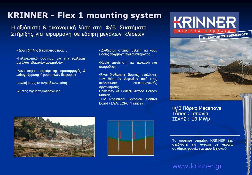 KRINNER - Flex 1 mounting system