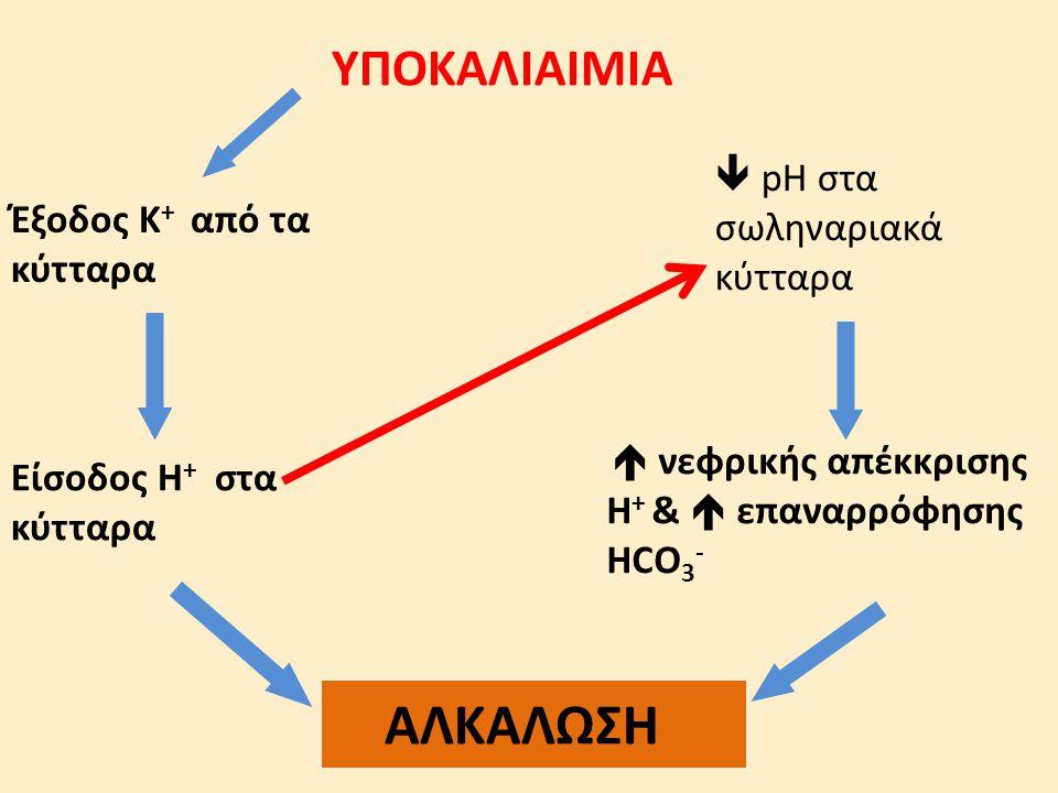 ΑΛΚΑΛΩΣΗ ΥΠΟΚΑΛΙΑΙΜΙΑ  pH στα σωληναριακά κύτταρα
