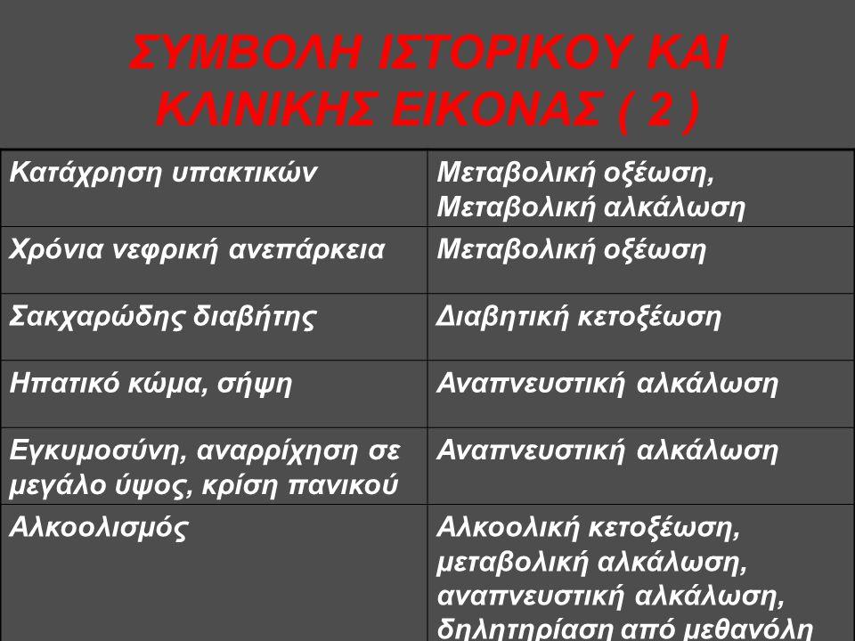 ΣΥΜΒΟΛΗ ΙΣΤΟΡΙΚΟΥ ΚΑΙ ΚΛΙΝΙΚΗΣ ΕΙΚΟΝΑΣ ( 2 )