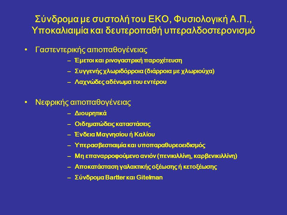 Σύνδρομα με συστολή του ΕΚΟ, Φυσιολογική Α. Π