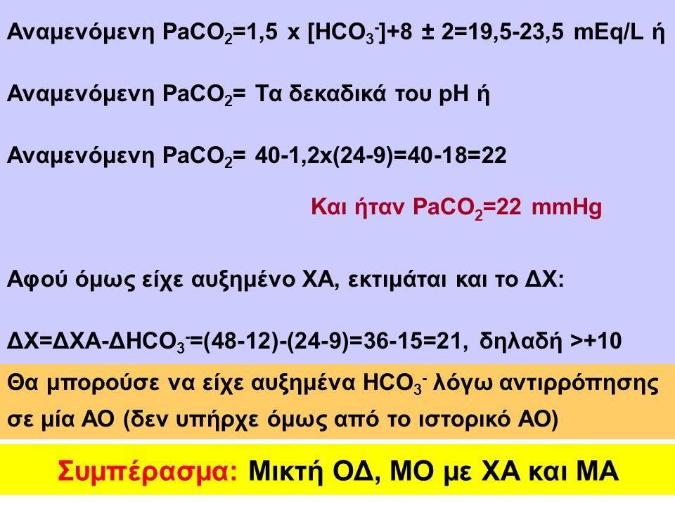 Συμπέρασμα: Μικτή ΟΔ, ΜΟ με ΧΑ και ΜΑ