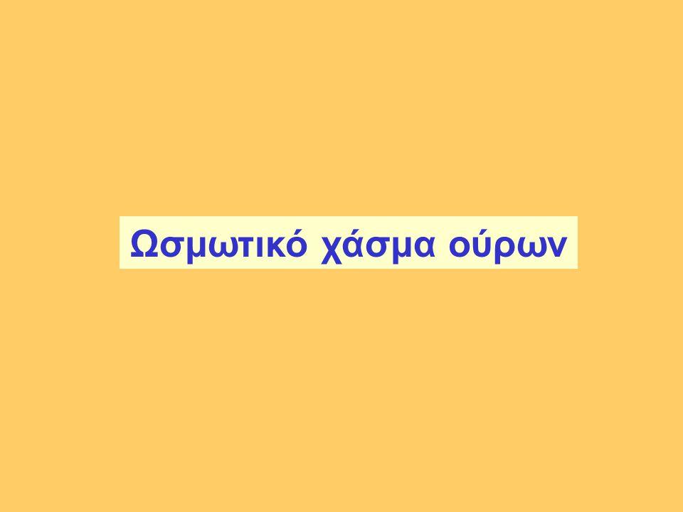 Ωσμωτικό χάσμα ούρων Check on osmolality equations