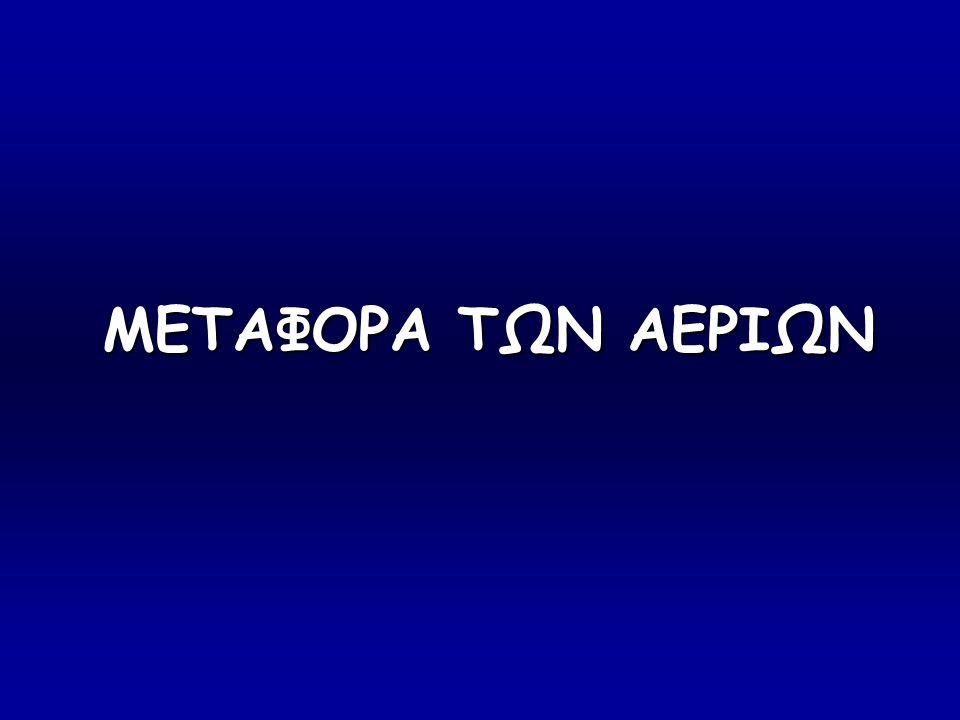 METAΦΟΡΑ ΤΩΝ ΑΕΡΙΩΝ