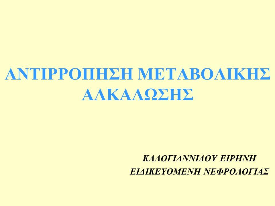 ΑΝΤΙΡΡΟΠΗΣΗ ΜΕΤΑΒΟΛΙΚΗΣ ΑΛΚΑΛΩΣΗΣ