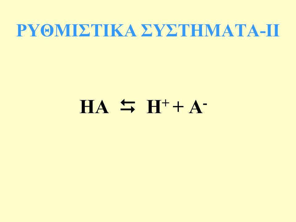 ΡΥΘΜΙΣΤΙΚΑ ΣΥΣΤΗΜΑΤΑ-IΙ
