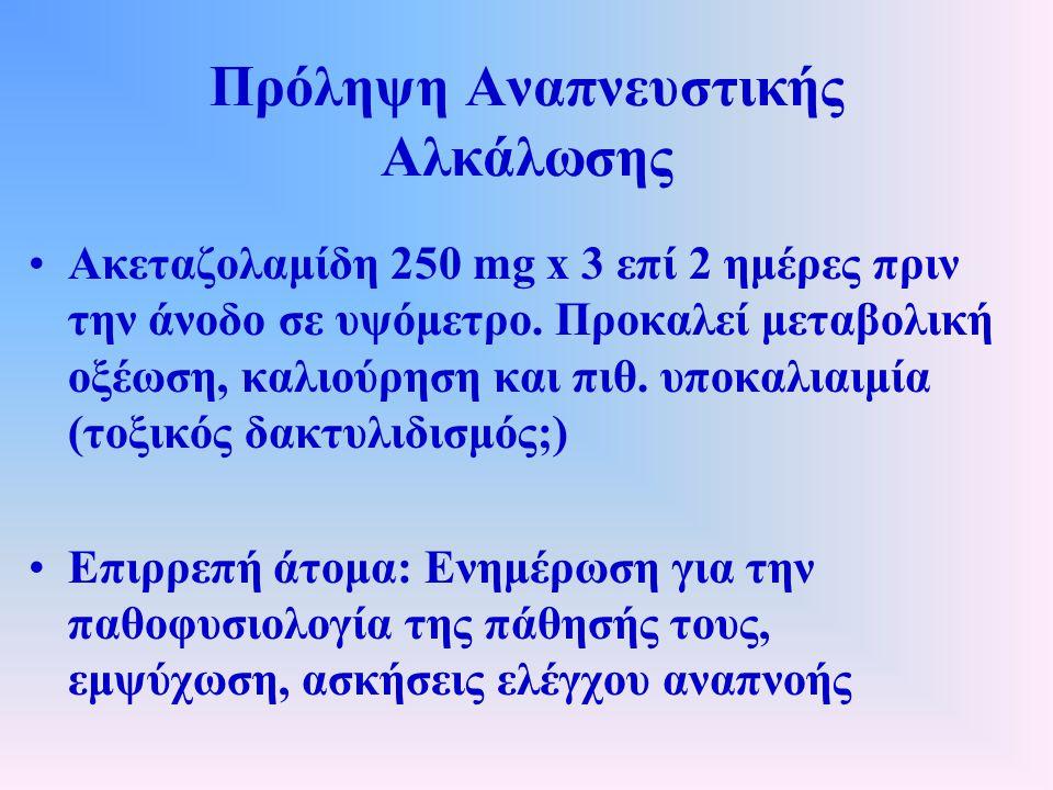 Πρόληψη Αναπνευστικής Αλκάλωσης