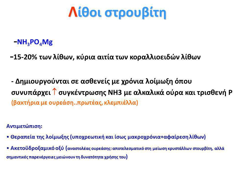 Λίθοι στρουβίτη -ΝΗ3PO4Mg