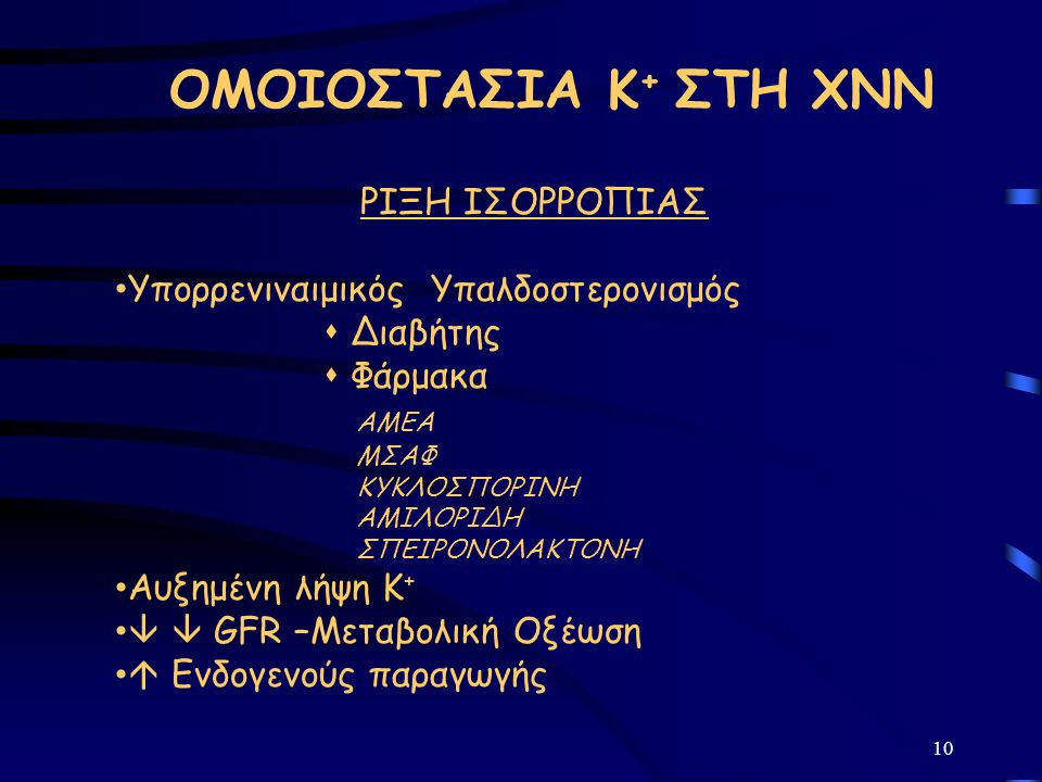 ΟΜΟΙΟΣΤΑΣΙΑ Κ+ ΣΤΗ ΧΝΝ ΡΙΞΗ ΙΣΟΡΡΟΠΙΑΣ