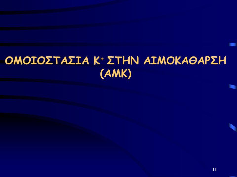 ΟΜΟΙΟΣΤΑΣΙΑ Κ+ ΣΤΗΝ ΑΙΜΟΚΑΘΑΡΣΗ (ΑΜΚ)