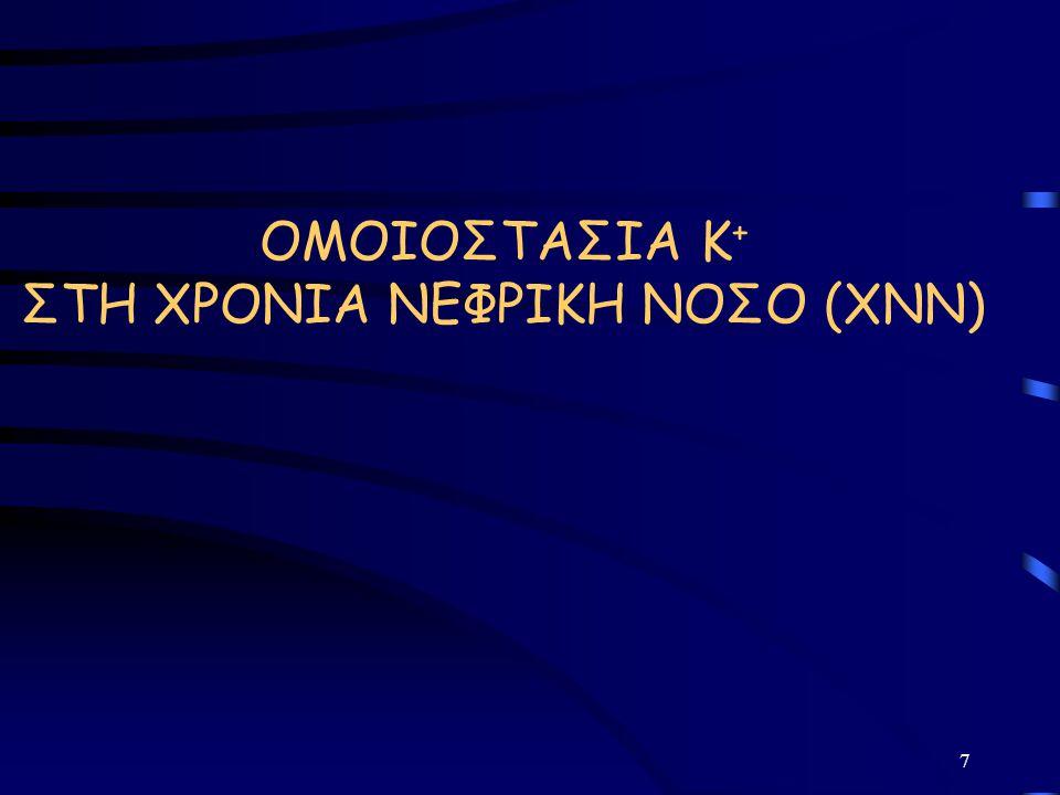 ΟΜΟΙΟΣΤΑΣΙΑ Κ+ ΣΤΗ ΧΡΟΝΙΑ ΝΕΦΡΙΚΗ ΝΟΣΟ (ΧΝΝ)