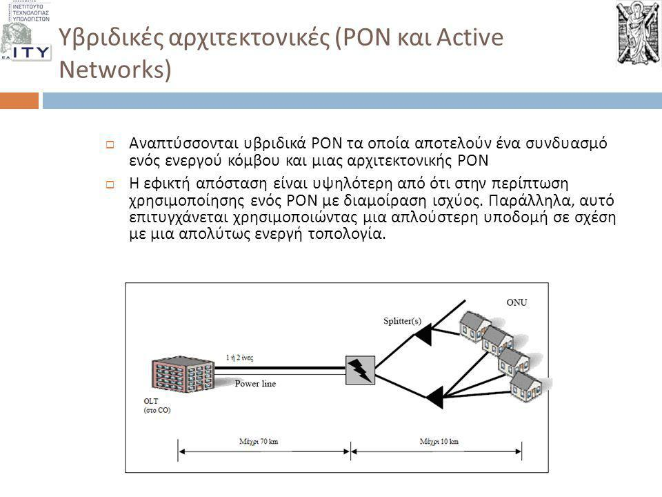 Υβριδικές αρχιτεκτονικές (PON και Active Networks)