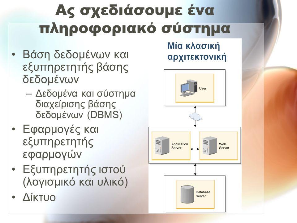Ας σχεδιάσουμε ένα πληροφοριακό σύστημα