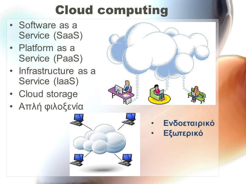 Cloud computing Software as a Service (SaaS)