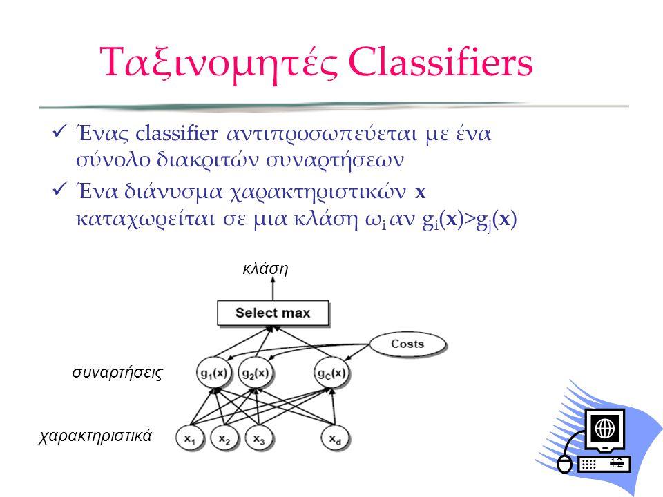 Ταξινομητές Classifiers
