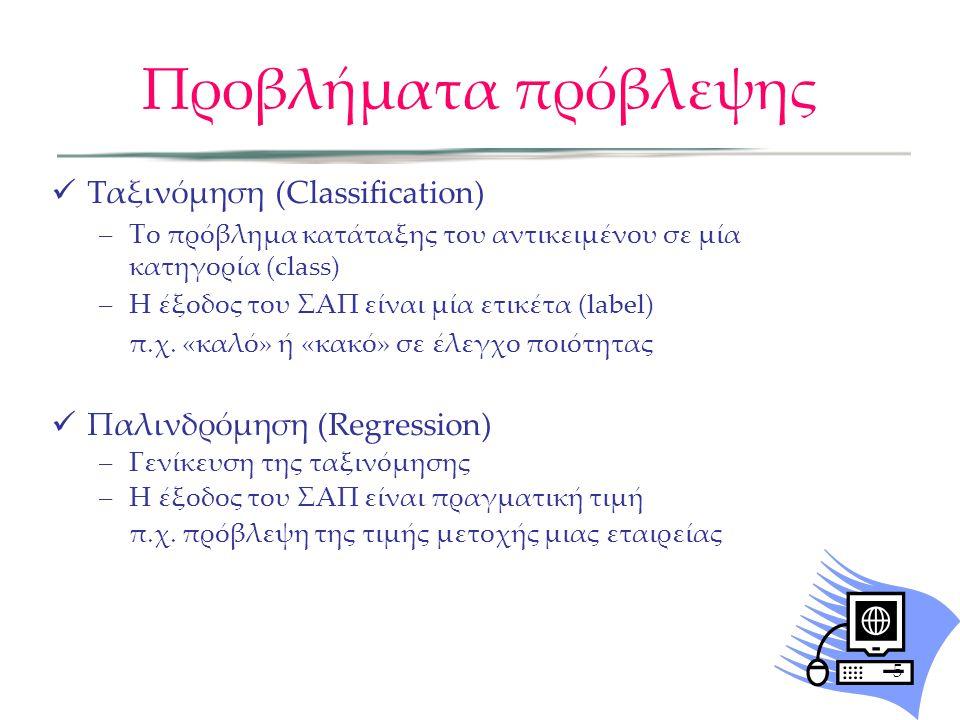 Προβλήματα πρόβλεψης Ταξινόμηση (Classification)