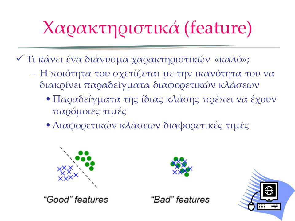 Χαρακτηριστικά (feature)