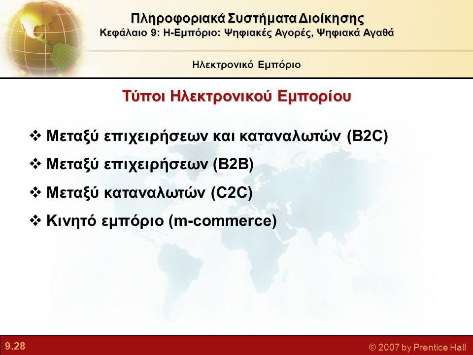 Τύποι Ηλεκτρονικού Εμπορίου