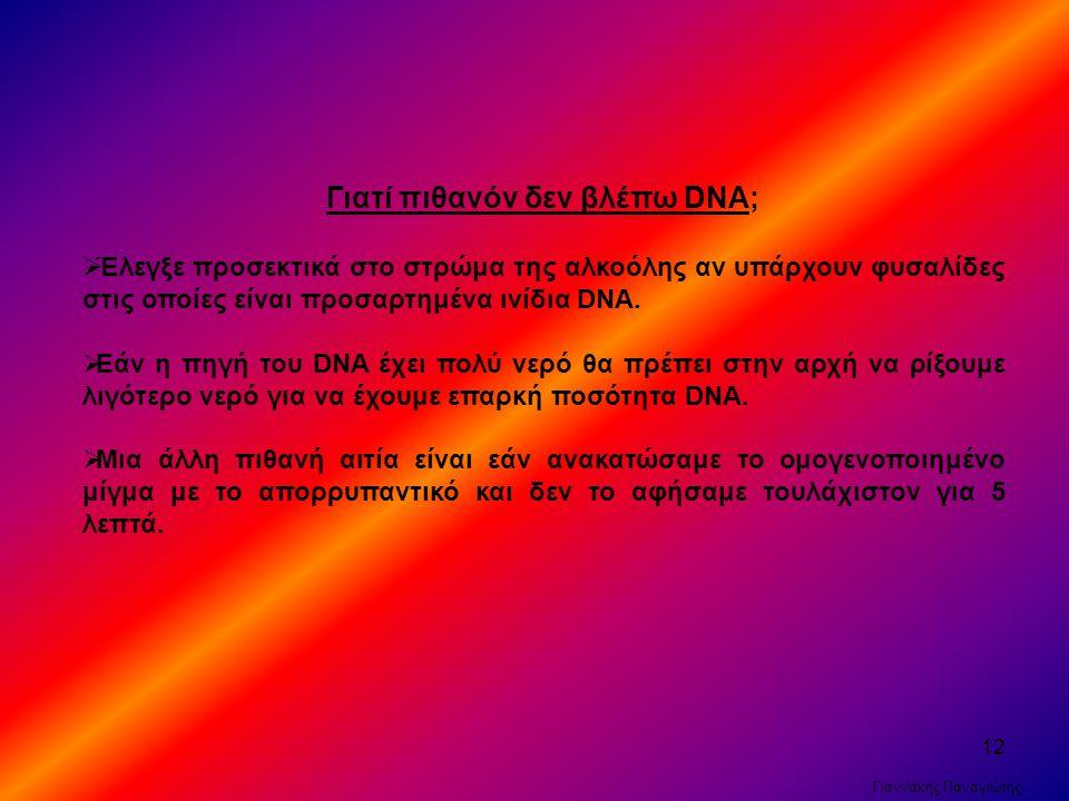 Γιατί πιθανόν δεν βλέπω DNA;