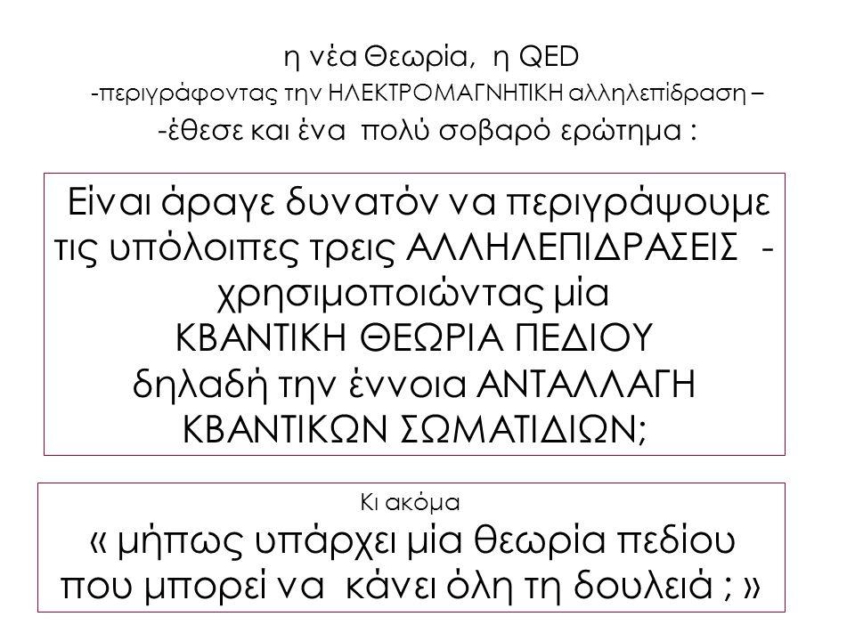 ΚΒΑΝΤΙΚΗ ΘΕΩΡΙΑ ΠΕΔΙΟΥ
