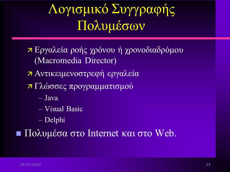 Λογισμικό Συγγραφής Πολυμέσων