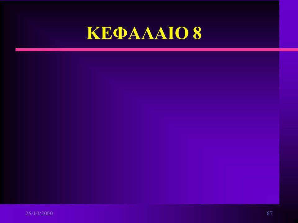 ΚΕΦΑΛΑΙΟ 8 25/10/2000