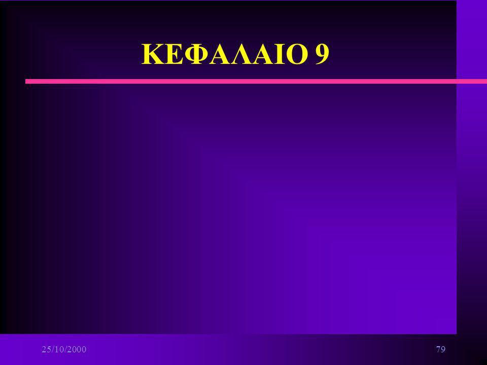 ΚΕΦΑΛΑΙΟ 9 25/10/2000