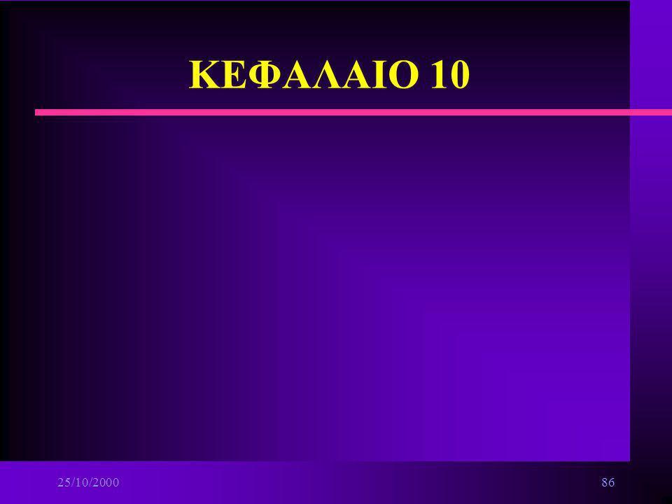 ΚΕΦΑΛΑΙΟ 10 25/10/2000