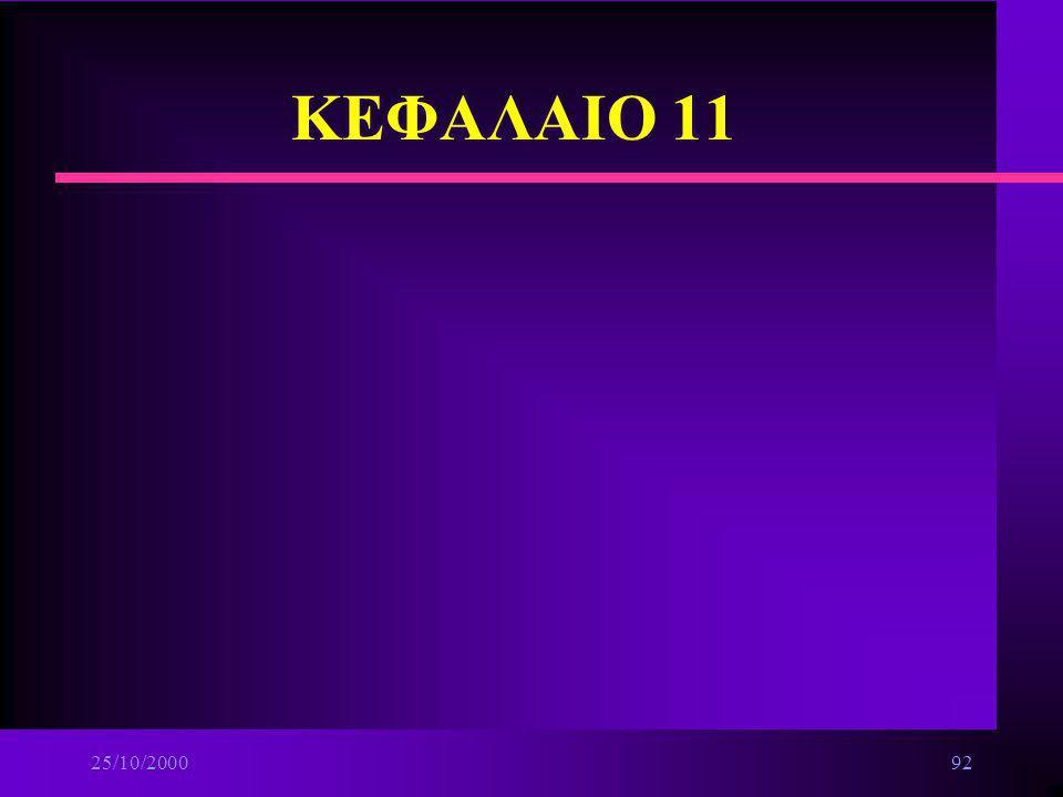 ΚΕΦΑΛΑΙΟ 11 25/10/2000