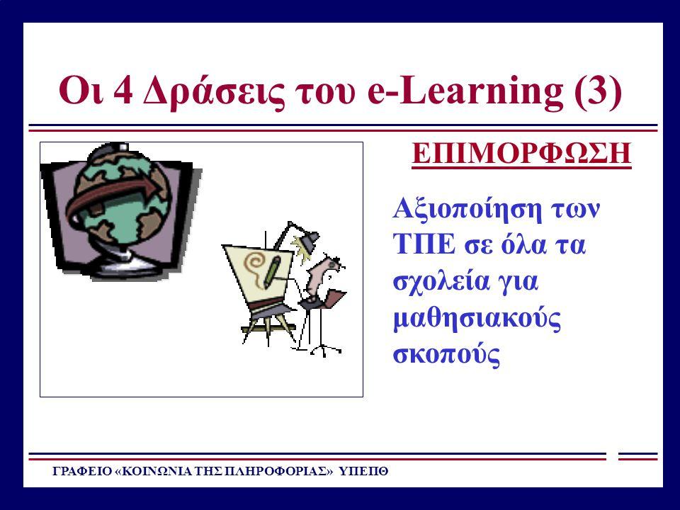 Οι 4 Δράσεις του e-Learning (3)