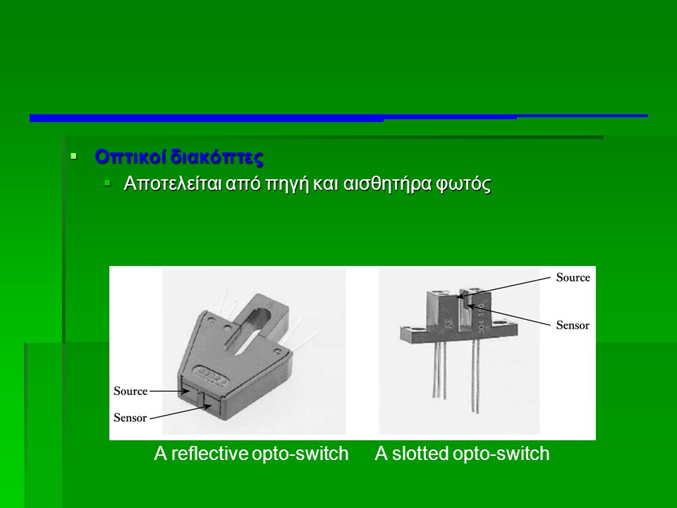 A reflective opto-switch