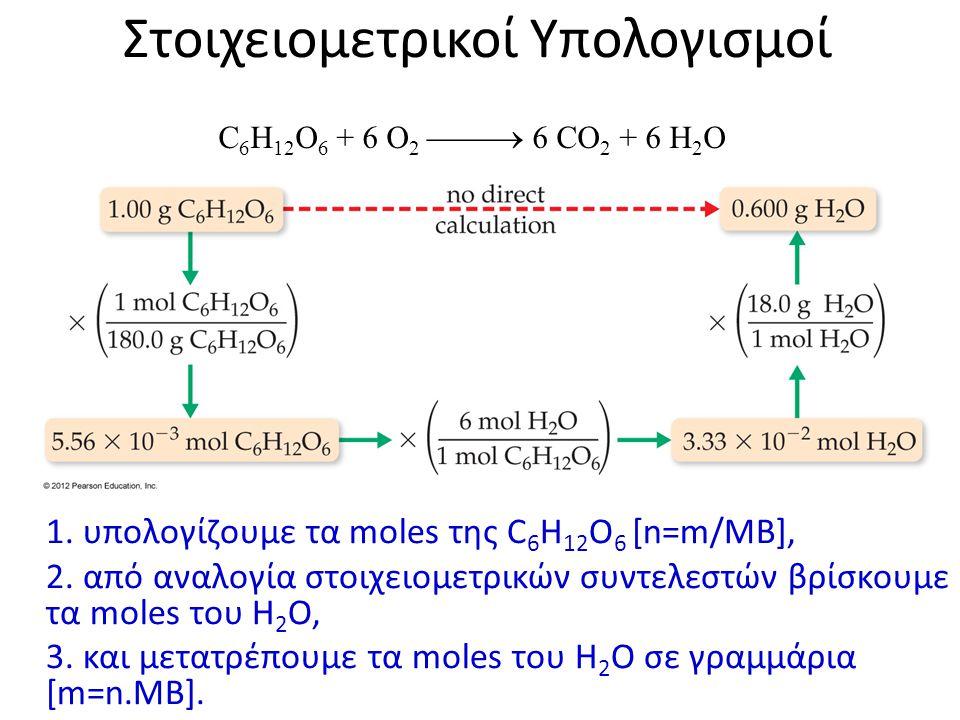 Στοιχειομετρικοί Υπολογισμοί