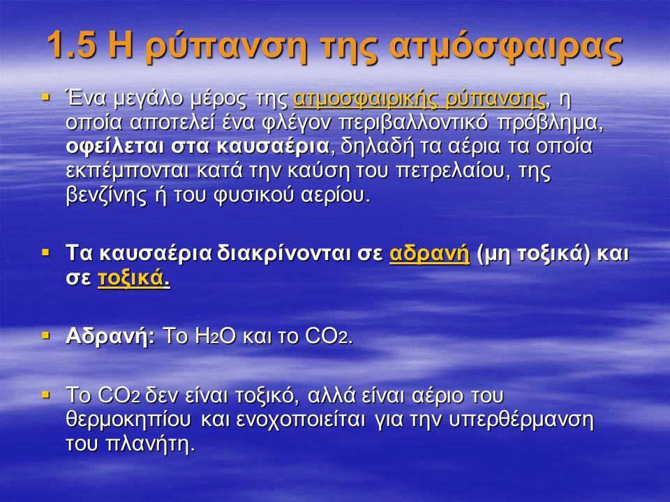 1.5 Η ρύπανση της ατμόσφαιρας