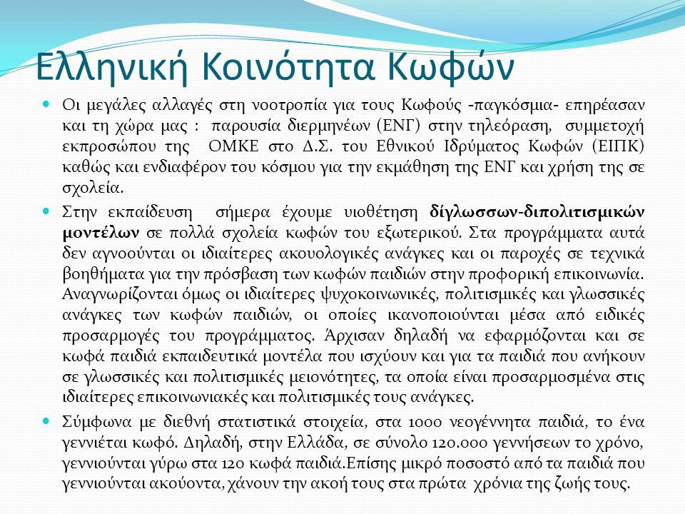 Ελληνική Κοινότητα Κωφών